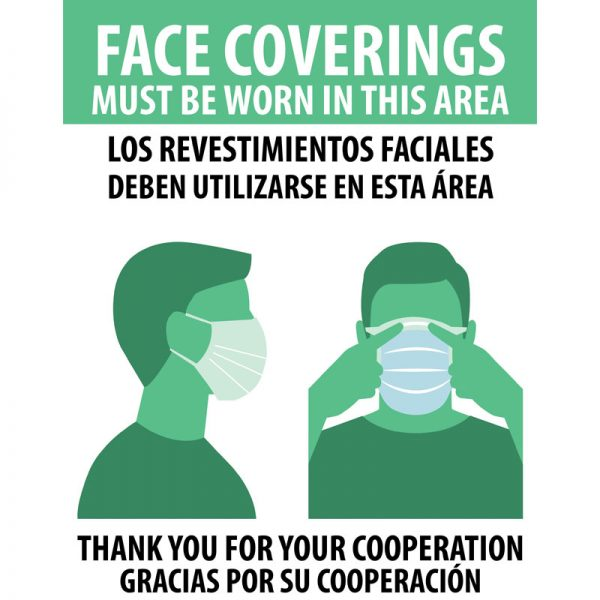 Face Coverings Bilingual Poster